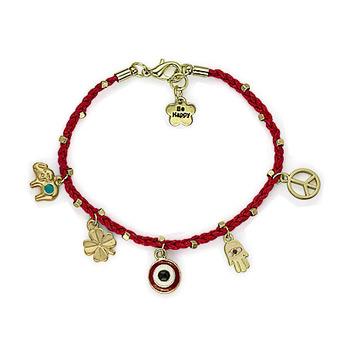 Wrapped Bracelet Fatima Hand Turquoise Evil Eye Charm Peace Charm Hamsa Bracelet