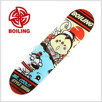 top boiling brand 7 ply  Canadian maple  complete skateboard-whale calf