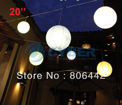 "Hot 20""(50CM) Round Chinese Paper Lantern, Party Supplies,Halloween /Christmas /Wedding Favour Decorations Free Shipping 9178(China (Mainland))"