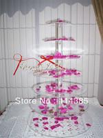 7 tier round maypole acrylic cupcake stand, 7 tier round perspex cupcake stand, 7 tier wedding cake stand