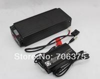 48V 20AH Li-ion Battery with Black Flat Aluminium Case Charger Li-po lithium