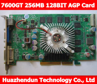 Free shipping Free shipping for  7600GT 256MB 128BIT AGP VGA 3D Graphics Card TV/VGA/DVI compatible with Windows 7