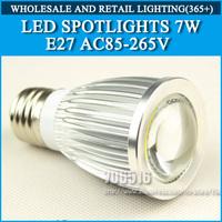 High power led bulbs Spotlight Bulb Lamp 7W 1*7W AC85-265V Cold white/warm white Free shipping