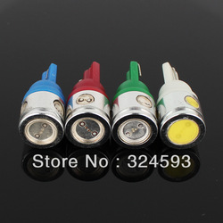 Wholesale 2pcs 2.5W high power T10 168 W5W Car LED Wedge Light Bulb License plate lights turn signal light White Red Blue Green(China (Mainland))