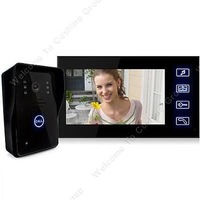 "Free shipping!7"" Wired Video Door Phone Doorbell Intercom Camera DVR W/ 2gb Night Waterproof"
