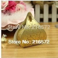 2014 Hot Sale Wholesale New 100pcs Romantic Wedding Favor Box New European Heart-shape  Candy boxes Wedding Package Gift Box