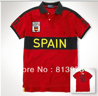 Free shipping!100% COTTON Men's polo t shirt Spain short sleeve polo causal shirts High Quality
