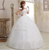 Free Shipping Fashion Rhinestone Flower Sweet Princess Wedding Dress