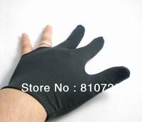 Free shipping 5pcs/LOT black Pool snooker Billiard table glove 3finger shooter