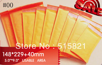 "New Made #00  Golden Kraft  Bubble Envelopes padded Mailer   148mmx269mm  (6""x 9"")  100 pcs"