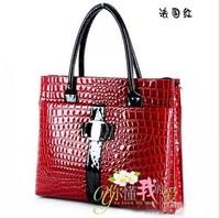 NALULA Luxury OL Lady Women Crocodile Pattern Hobo Handbag Tote 2012 Fashion Bags Lady PU Leather Shoulder Bag Elegant HC1269