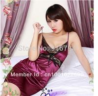 1pcs/lot Factory price  Free shipping!Sexy lingerie transparent bud light pink pajamas