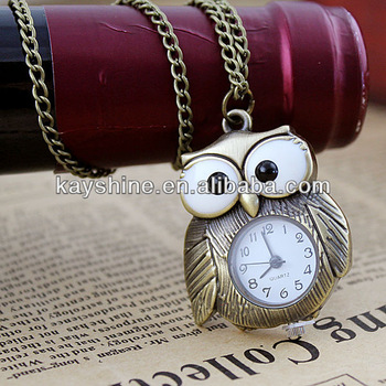 New 2014 Vintage Jewelry Classic Cute Brid Designer Owl Pocket Watch