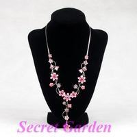 Wholesale 2 High Quality Black  Velvet Necklace Display Stand Holder Bust 23cm H