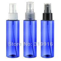 Free shipping R24-100ml round blue  PET spray pump travel  plastic bottle 50pc/lot