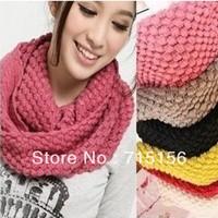 Free shiping Womens Winter Knitted Crochet Long Snood Tube Scarf Shawl Neck Warmer Pashmina