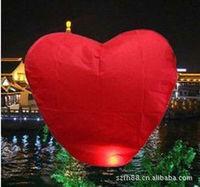 Free Shipping pure color Wishing lamp, heart shape Sky Lanterns,SKY CHINESE LANTERNS BIRTHDAY WEDDING PARTY,Lamp 5 pcs/lot