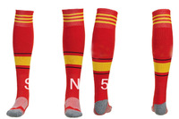 2014 high Thailand quality original spain away blue color soccer socks, Towel bottom football socks