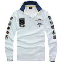 RETAIL AERONAUTICA MILITARE Air Force One Male T-shirt Embroidery Men's Wear Long Sleeve T-shirt A-01