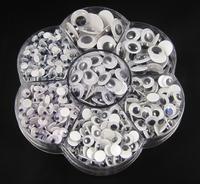 Free shipping Plastic eye with self-adhesive 700pcs/box (mix 7 sizes.) 011045