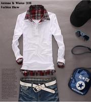Free shipping,2014 new Mens T Shirt +Men's long Sleeve T Shirt slim fit ,t shirt ,cotton,3colors ,4sizes,drop shipping MLT39