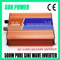 HOT SALE!! 500W Off Grid Inverter Pure Sine Wave Inverter DC12V input, Wind Turbine Inverter