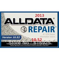 2013  (18 in 1)newest alldata 10.52 auto repair software 750G+vivid -wholesale factory support high quality Good price