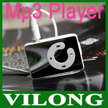 New 2014  Mini Clip Mp3 Player,sport Mirror Mp3, TF card support MP3+USB+EARPHONE