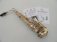 The wholesale manufacturers-- Very beautiful gift suzuki alto saxophone surface silver