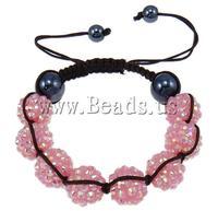 Free Shipping hematite beads with hand-knitted nylon cord adjustable nice design Resin Shamballa Bracelet