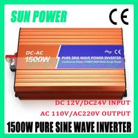 1500W off grid inverter, 1.5KW pure sine wave inverter, DC 12V 24V to AC 220V for solar power system, wind turbine generator