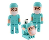 Doctor Style Plastic USB 2.0 Flash pen Drive disk Memory Sticks 4GB 8GB 16GB 32GB 64GB Free Shipping