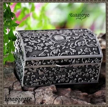 Silver + zinc alloy beautifyl Jewelry casket, box free shopping(China (Mainland))