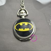 Fashion silver girl unisex woman child DC Super Hero Batman logo Pocket Watch hour wholesale price good quality modern fashion