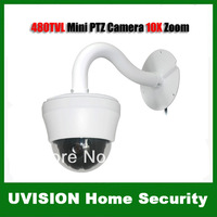 4 Inch 480TVL 10X MINI CCTV PTZ Surveillance Dome Security Camera 752 x 582 Effective Pixels Fedex DHL free shipping