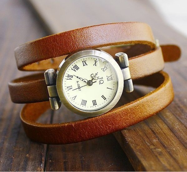 Wholesale!!! Genuine Cow Leather Three Circles fashion Wrap Women watch.TOP quality.DHL Free shipping.3 colors..(China (Mainland))