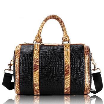 Free shipping the fur crocodile bag organizer genuine leather women's totes pattern handbag vintage shoulder bags 2013 OEM