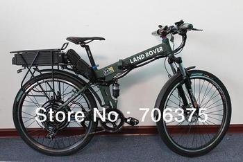 2013 New Off Road Electric Bike 48V 1000W Foldable Frame + 48V 20Ah Li-ion Battery in Black Flat Alumnium Case Ebike