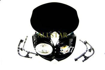 Free Shipping Dirt bike Motorcycle Universal Headlight motorcycle headlight  headhouse  Guaranteed 100%