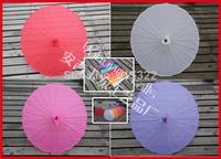 30pcs/lot free shipping assorted colors sun umbrella hand painted flower silk parasol umbrella