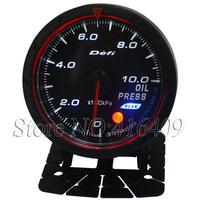 Universal  Oil Pressure Meter Car Meter Gauge White & Red Light 60mm Oil Press Gauge