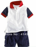 boy clothes Free shipping. sweat suits.2013 Children's wear  male baby knitting + loop who suit leisure suit twinset 6set/lot,