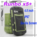"Original Runbo X5 IP67 Dustproof Waterproof Rugged Outdoor Smartphone 4.3"" Dual SIM MTK6577 Dual Core RAM 1GB ROM 4GB"