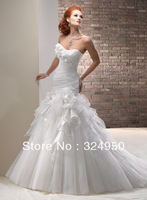 2014 Victoria Dress Strapless Chapel Train White Taffeta Corsets Tulle Sexy Mermaid Wedding Dresses YZ121508