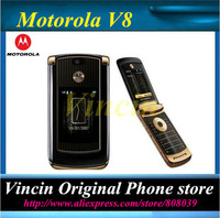 original unlocked cell phone V8 mobile phone with 2GB internal memory Gold color hot sale Refurbished Refurbished