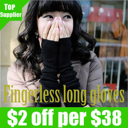 Free shipping Skin care Fingerless arm Mitten Long Sleeve Gloves women's braided knit Arm warmer fingerless long gloves Leisure(China (Mainland))