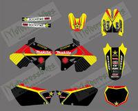 0009New Style 3M ROCKSTAR TEAM DECALS STICKERS  Graphics Kits for SUZUKI RM125 RM250 2001-2012