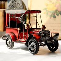 Free Shipping Handmade Antique Car Metal Classic Car Childhood Memory Metal Car Gift Home Decoration M1111
