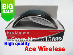 New 2.4GHz Wireless Foldable Folding Arc Optical Mouse For Microsoft For Laptop(China (Mainland))