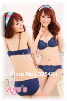Free Shipping 100% cotton skin-friendly bamboo young girl underwear set